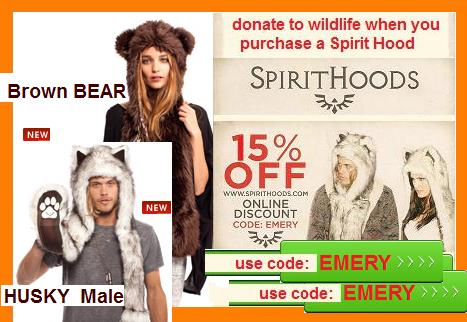 Spirit Hoods to Prtotect Natures Animals